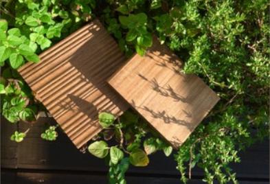 Deska tarasowa na taras do ogrodu. Thermo jesion ryflowany olejowany