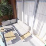 Duża kanapa na balkon